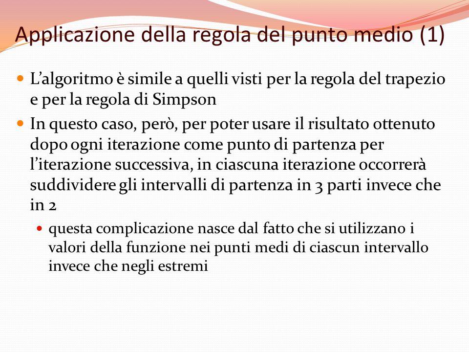 Applicazione della regola del punto medio (1)
