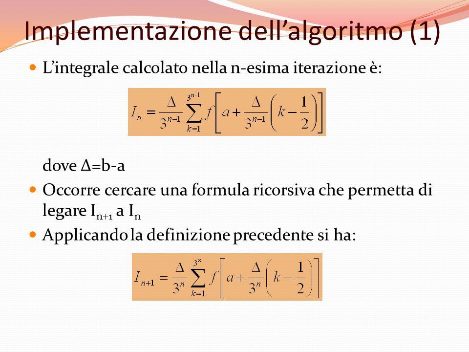 Implementazione dell'algoritmo (1)