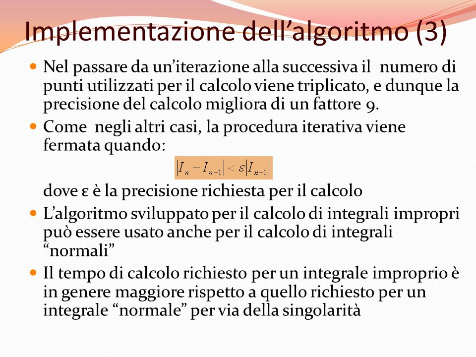 Implementazione dell'algoritmo (3)