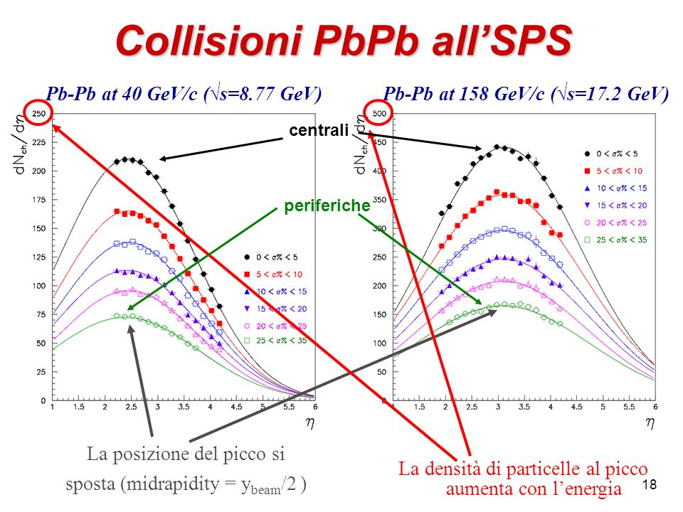 Collisioni PbPb all'SPS