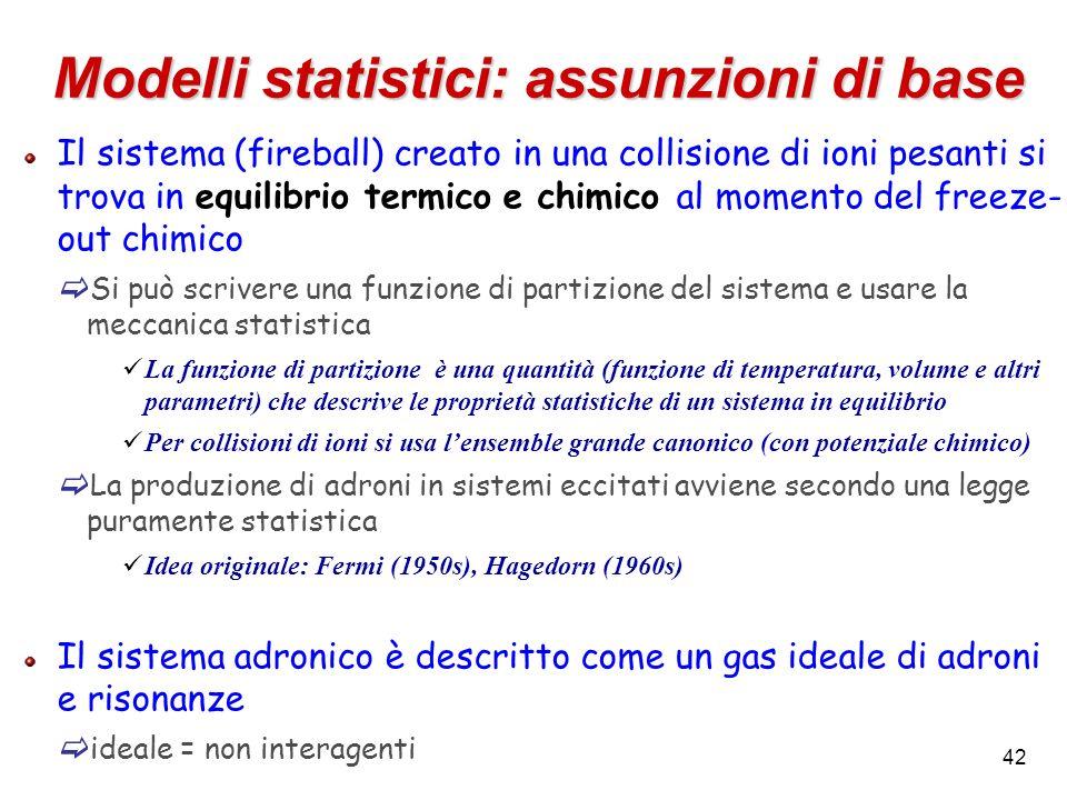 Modelli statistici: assunzioni di base