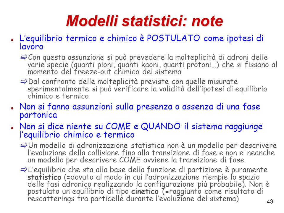 Modelli statistici: note