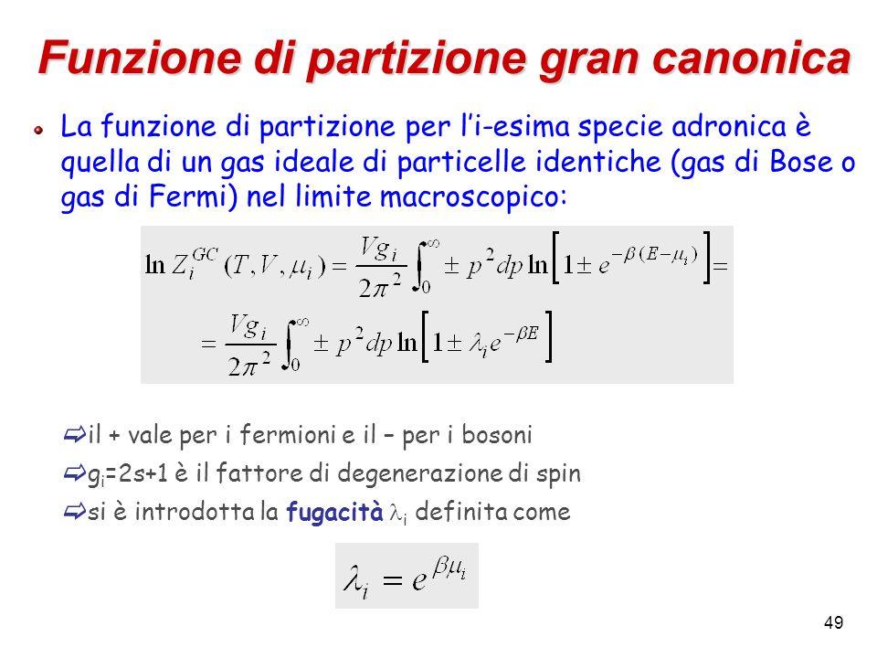 Funzione di partizione gran canonica