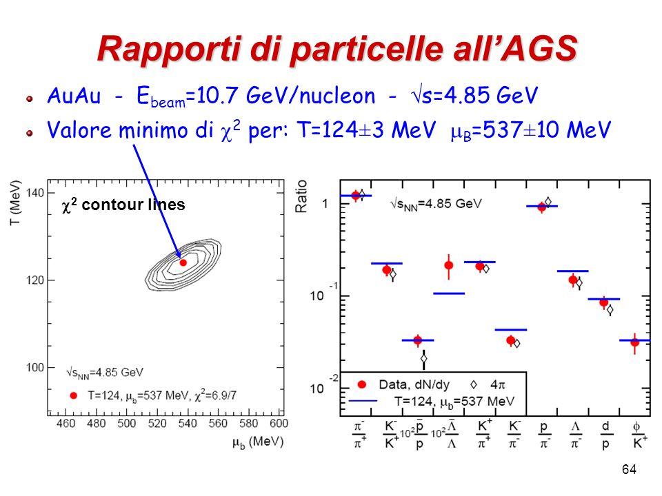 Rapporti di particelle all'AGS