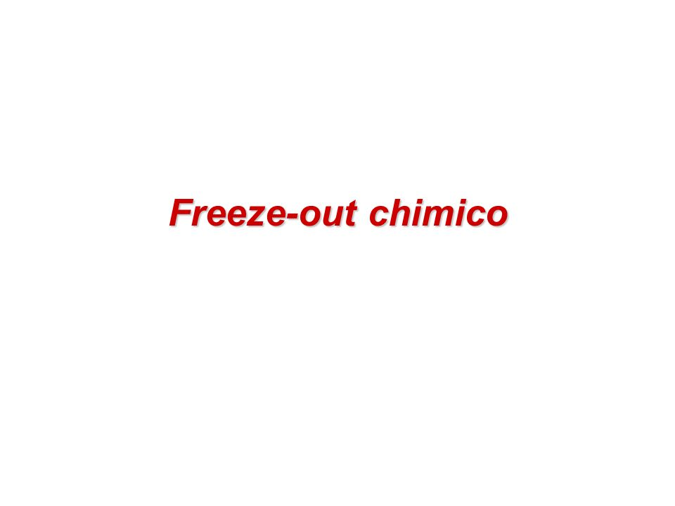 Freeze-out chimico