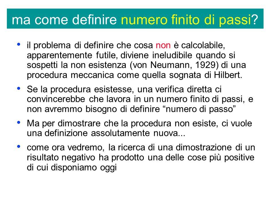 ma come definire numero finito di passi