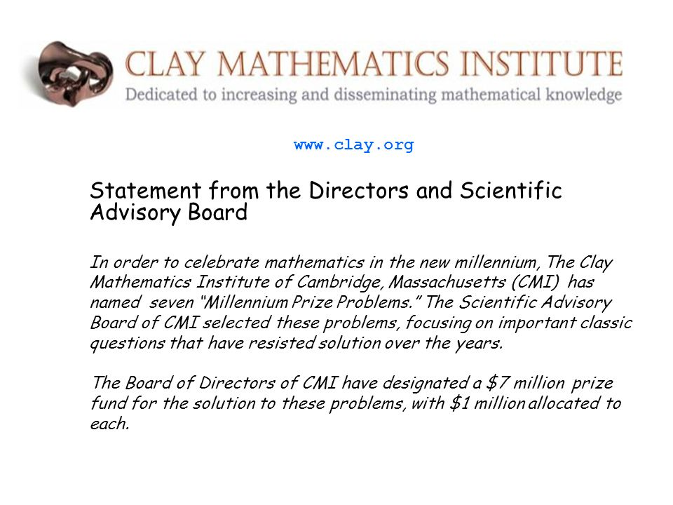 Statement from the Directors and Scientific Advisory Board