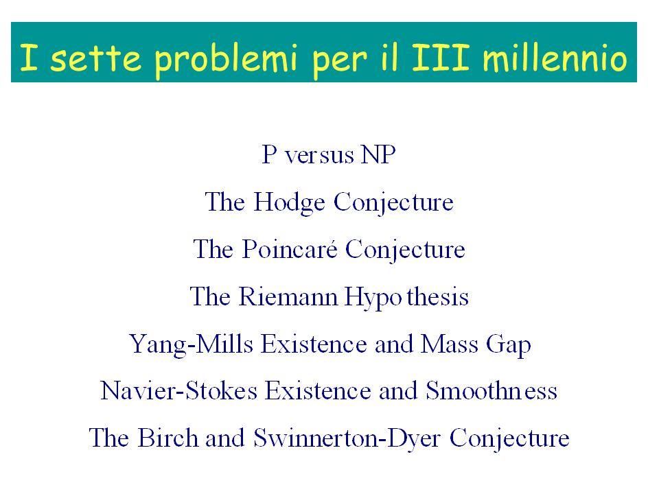 I sette problemi per il III millennio