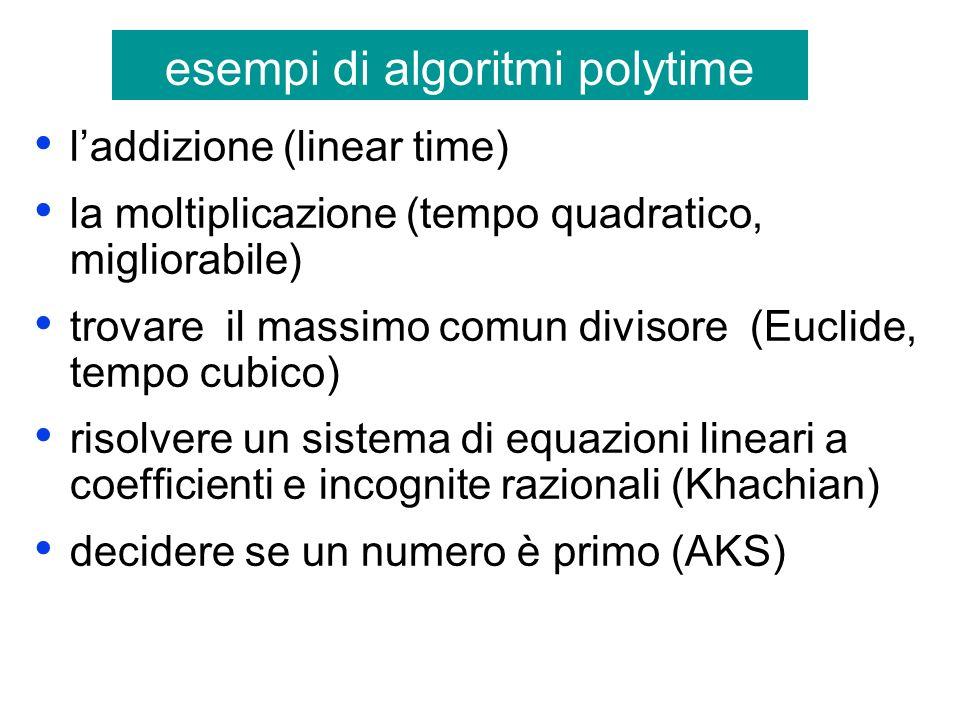 esempi di algoritmi polytime