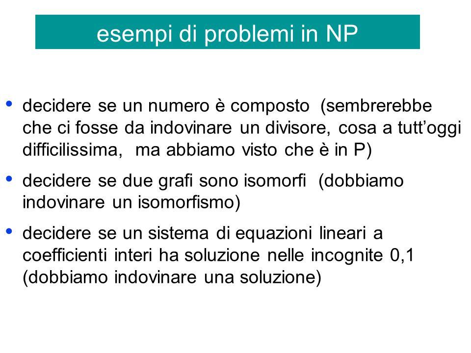 esempi di problemi in NP
