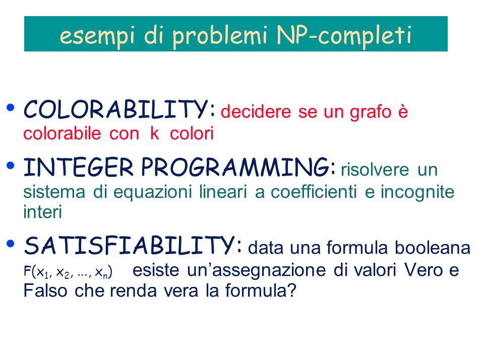 esempi di problemi NP-completi