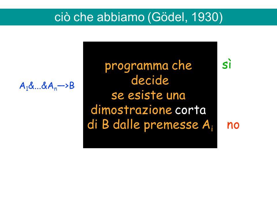 ciò che abbiamo (Gödel, 1930)