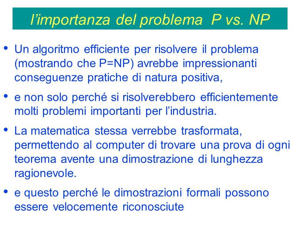l'importanza del problema P vs. NP