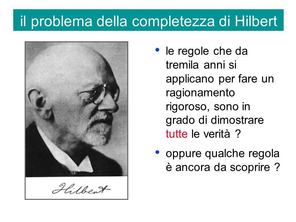 il problema della completezza di Hilbert