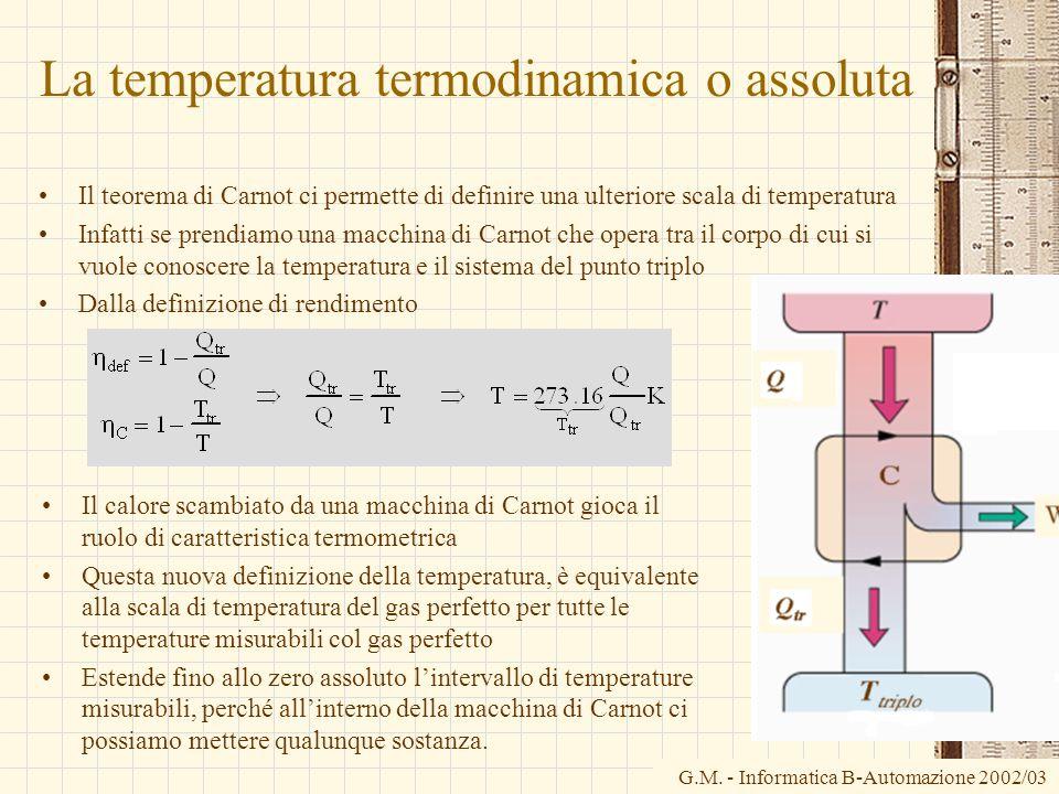 La temperatura termodinamica o assoluta