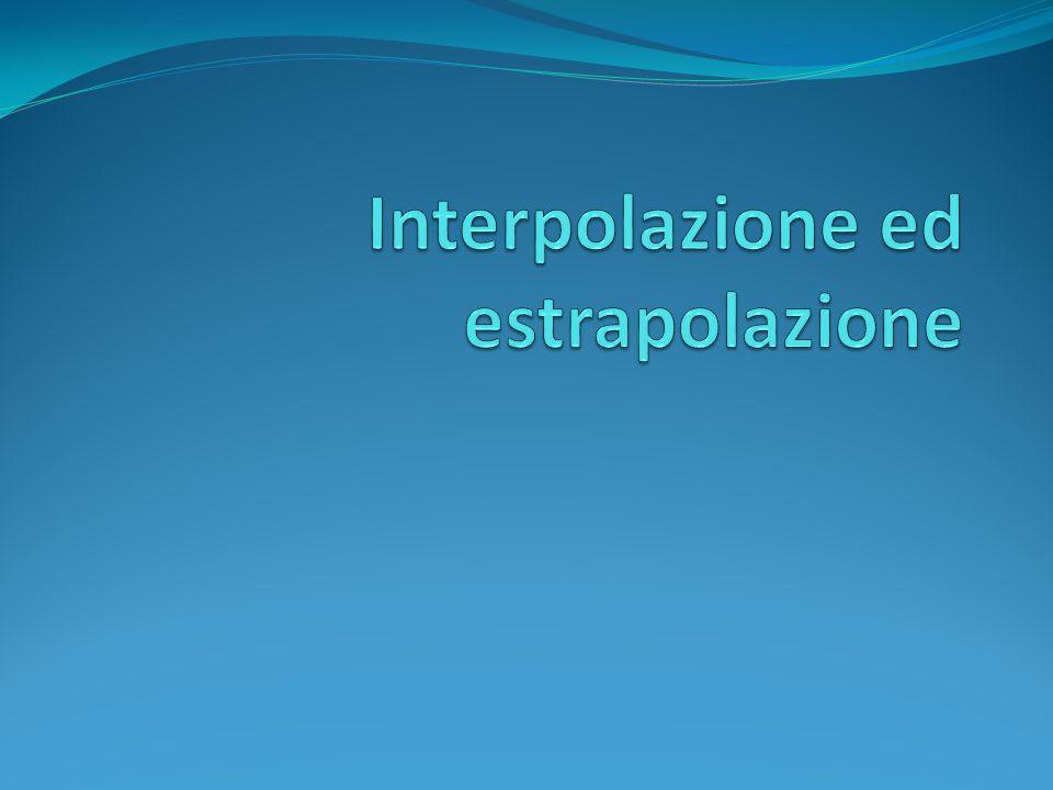 Interpolazione ed estrapolazione