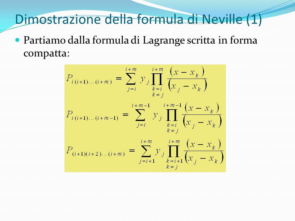 Dimostrazione della formula di Neville (1)