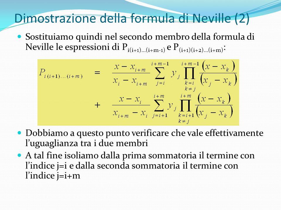 Dimostrazione della formula di Neville (2)