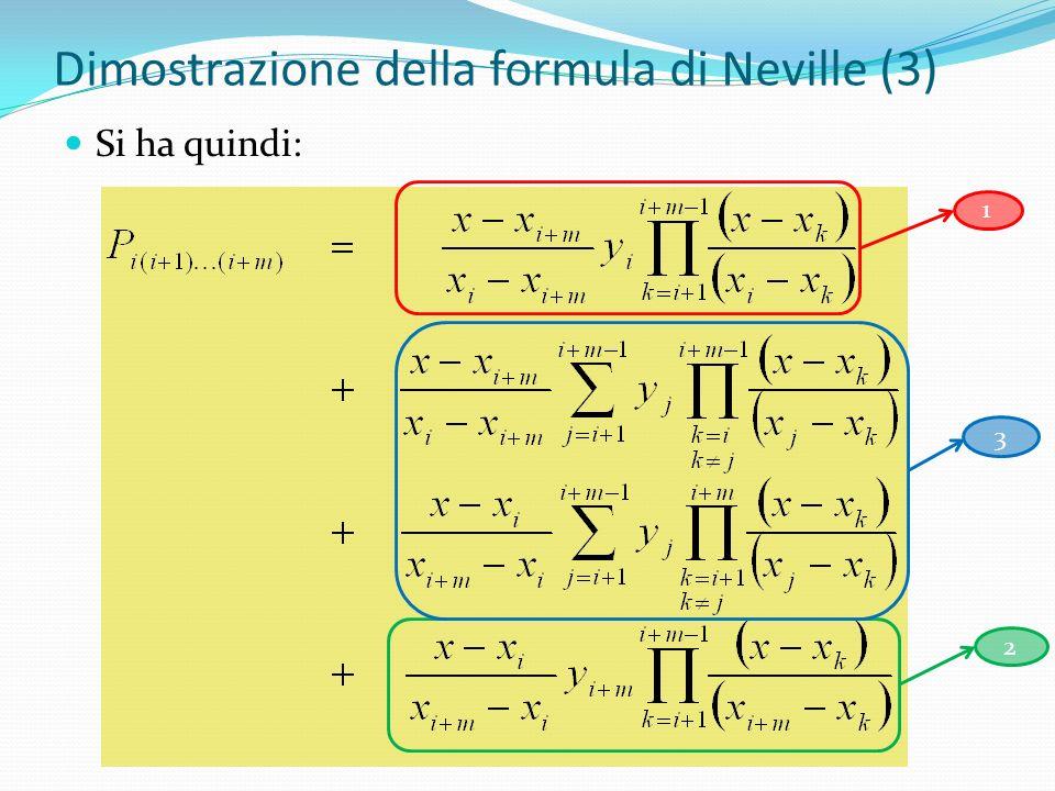 Dimostrazione della formula di Neville (3)