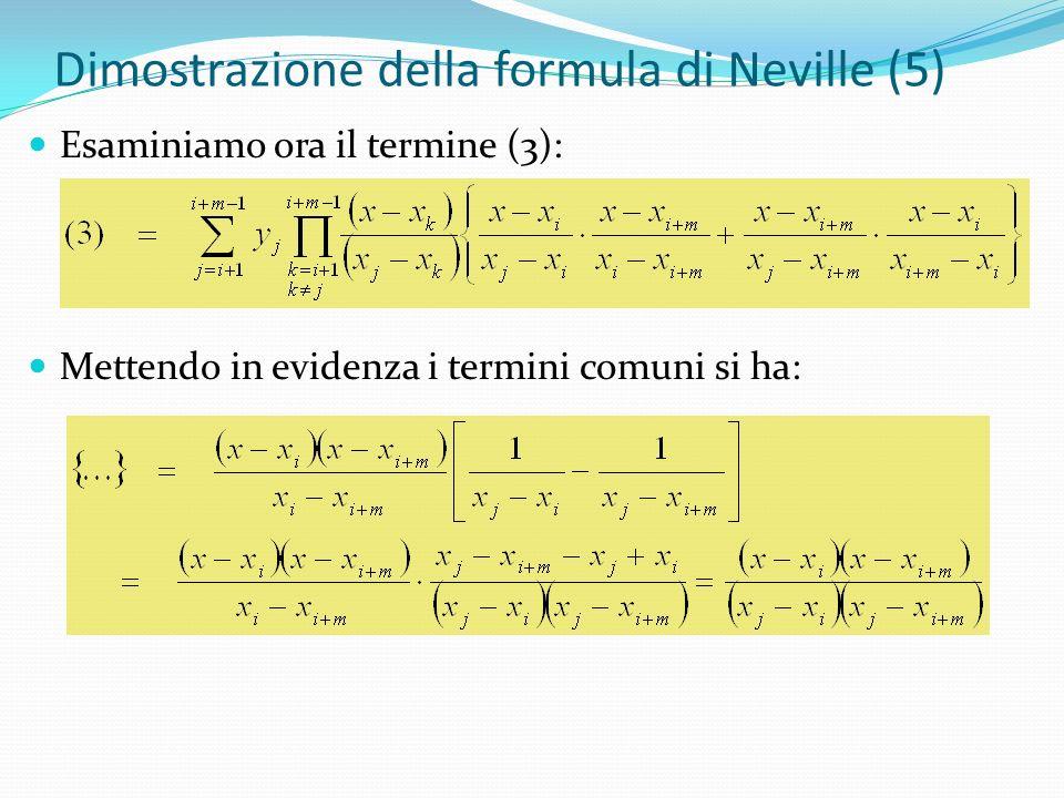 Dimostrazione della formula di Neville (5)
