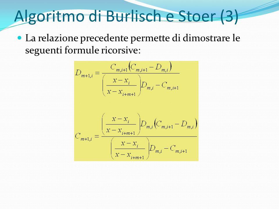 Algoritmo di Burlisch e Stoer (3)