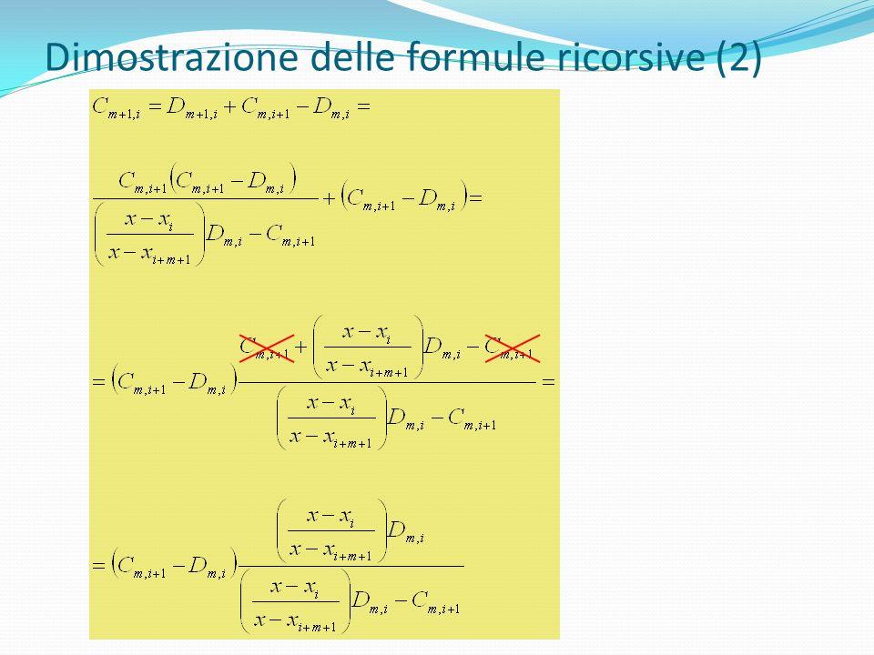 Dimostrazione delle formule ricorsive (2)