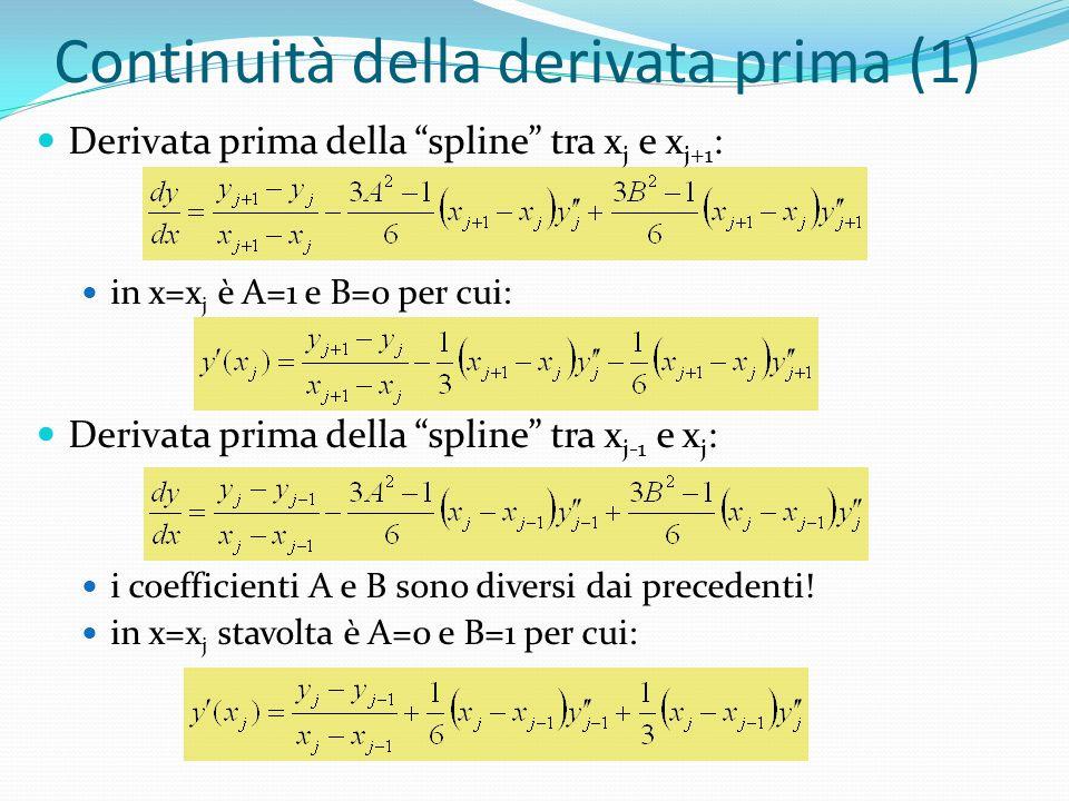 Continuità della derivata prima (1)