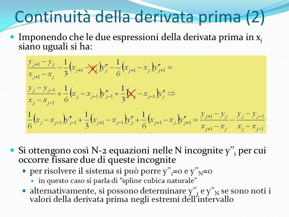 Continuità della derivata prima (2)
