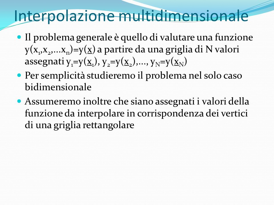 Interpolazione multidimensionale
