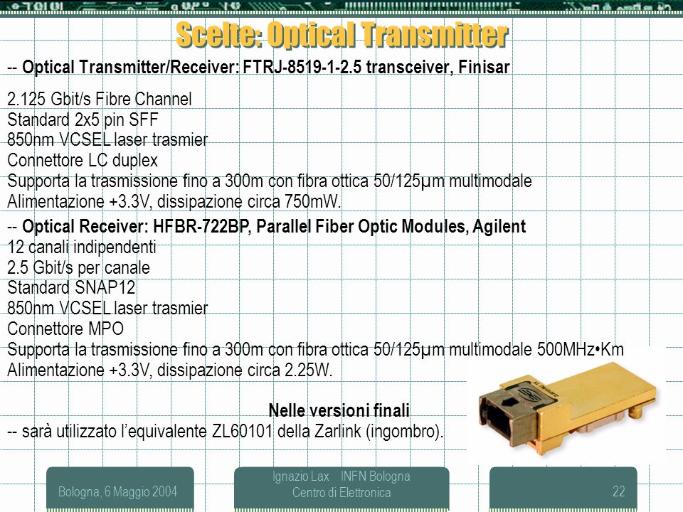 Scelte: Optical Transmitter