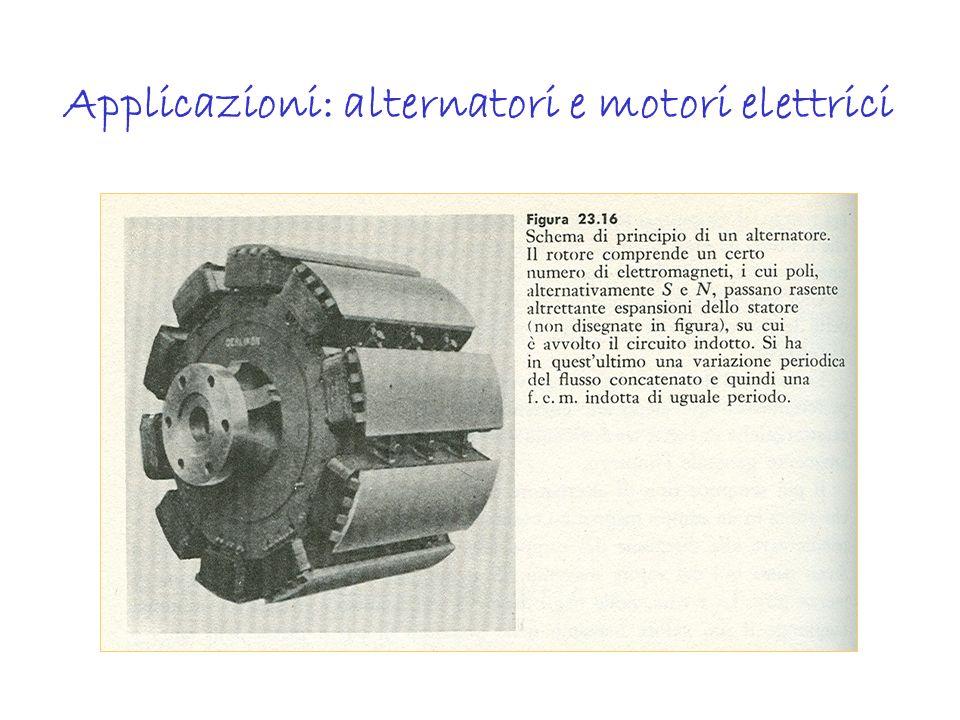 Applicazioni: alternatori e motori elettrici