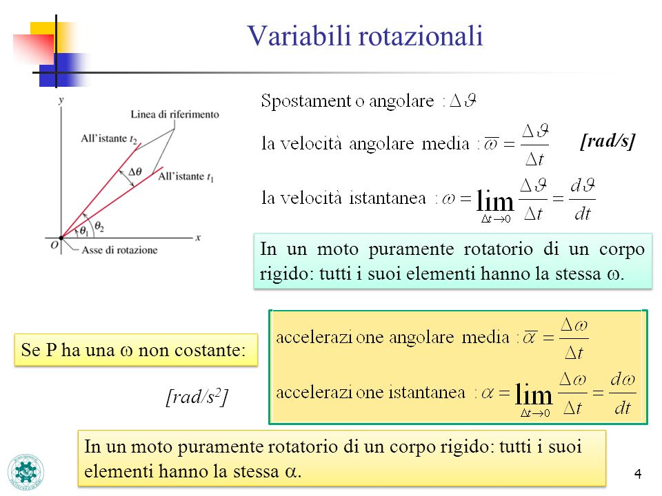Variabili rotazionali