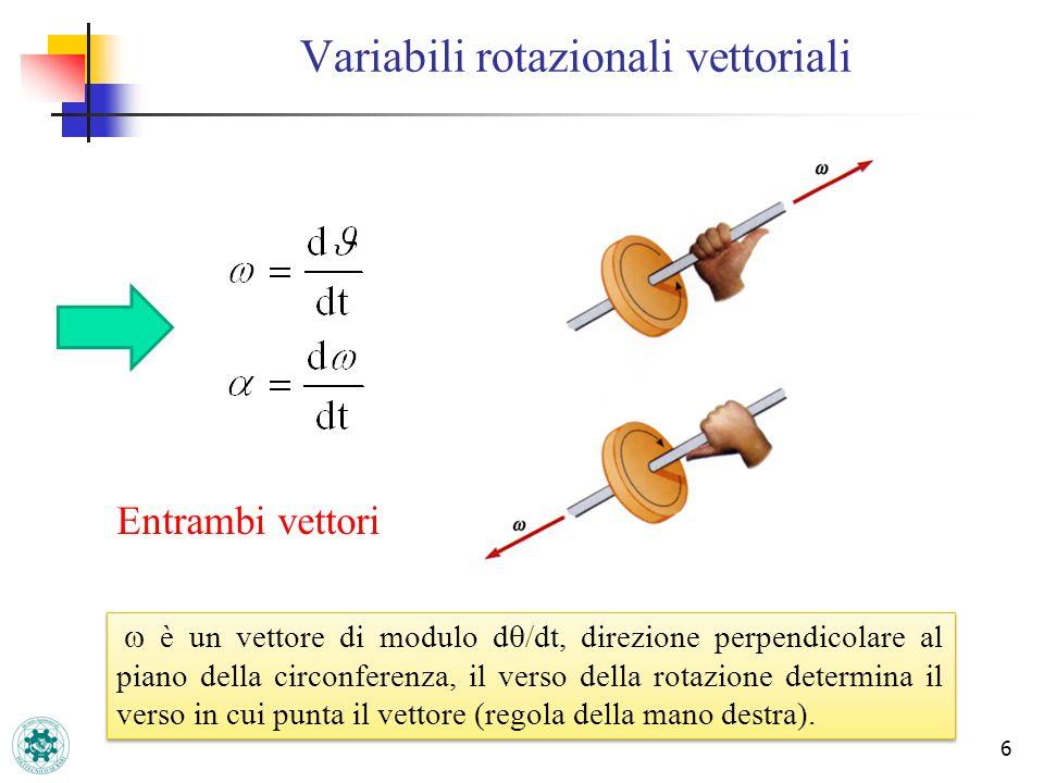 Variabili rotazionali vettoriali