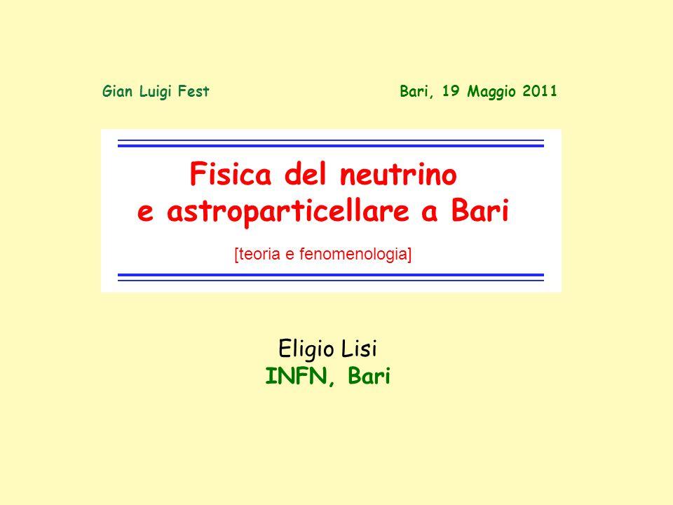 e astroparticellare a Bari