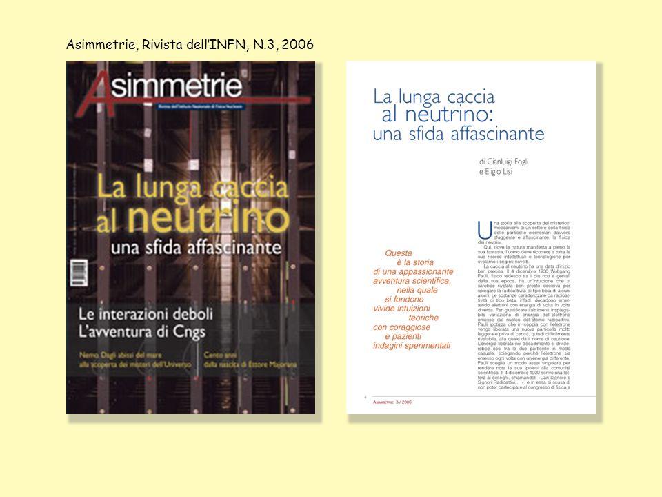 Asimmetrie, Rivista dell'INFN, N.3, 2006