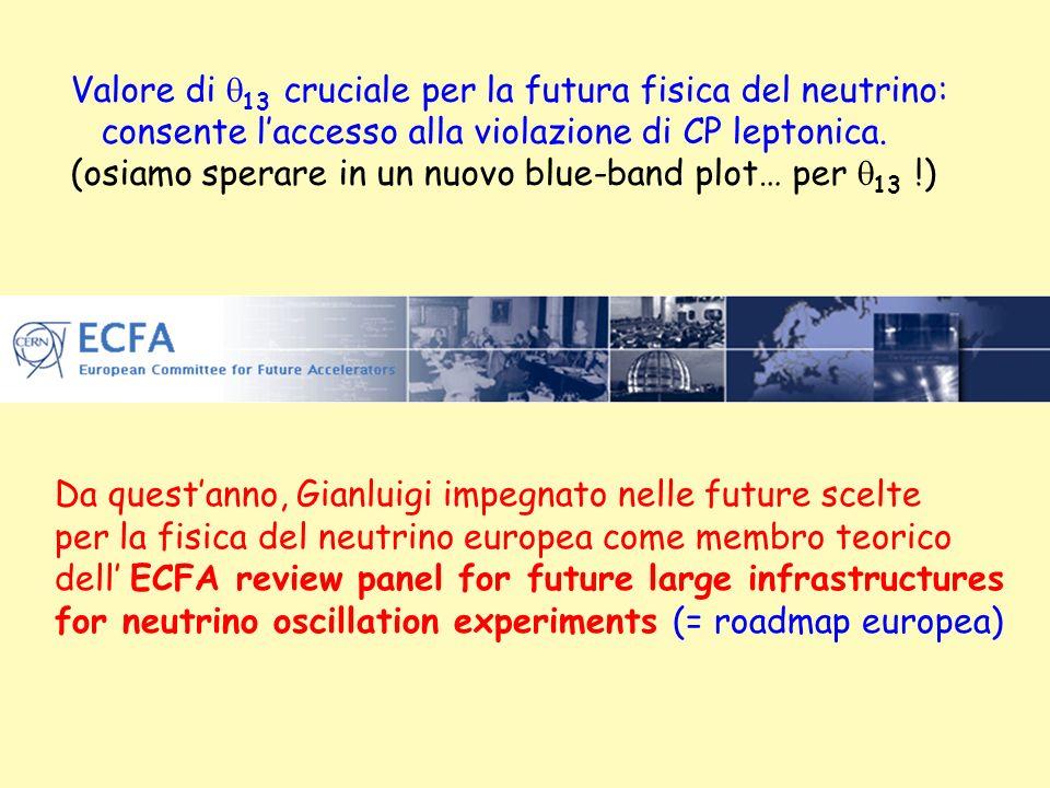 Valore di q13 cruciale per la futura fisica del neutrino: