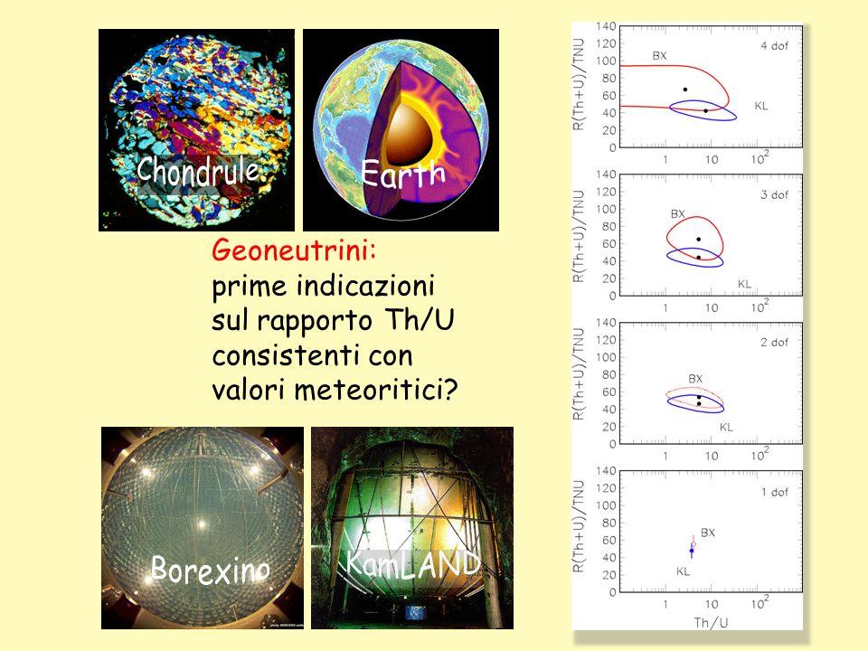 Earth Chondrule. Geoneutrini: prime indicazioni. sul rapporto Th/U. consistenti con. valori meteoritici