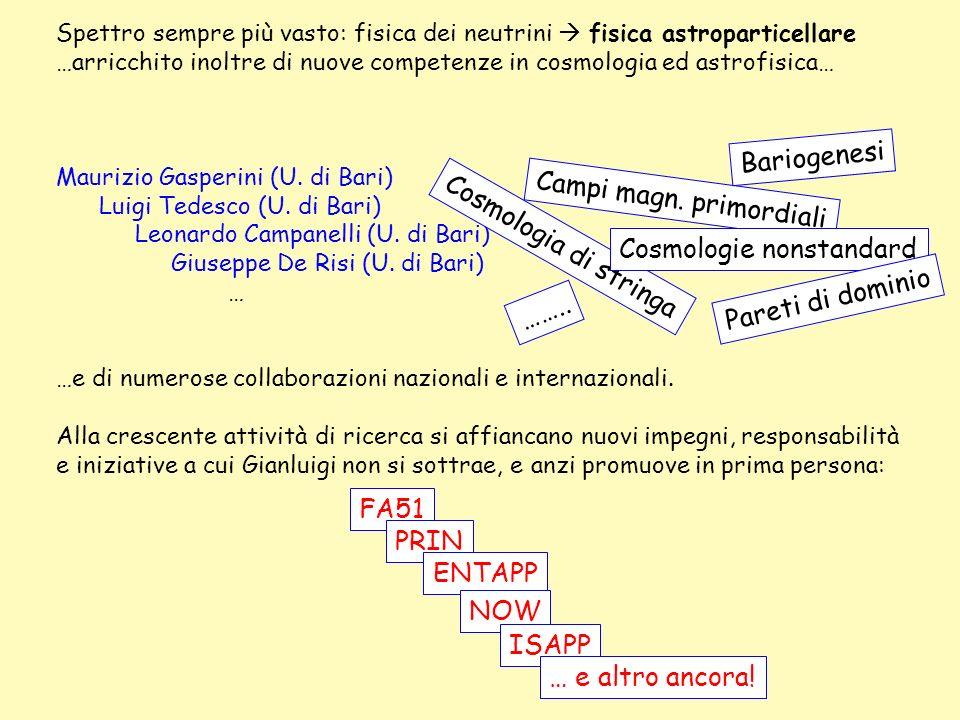 Campi magn. primordiali Cosmologia di stringa Cosmologie nonstandard