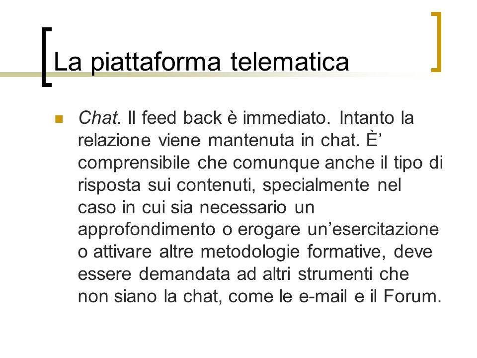 La piattaforma telematica