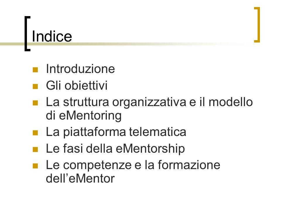 Indice Introduzione Gli obiettivi