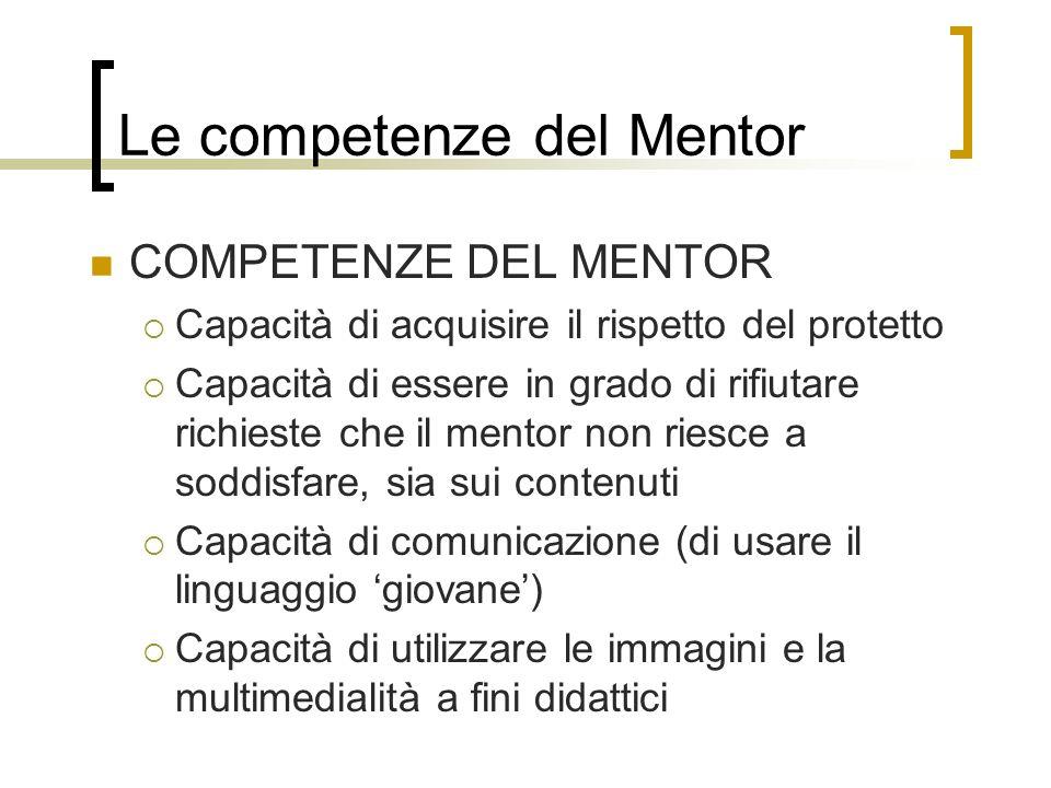Le competenze del Mentor