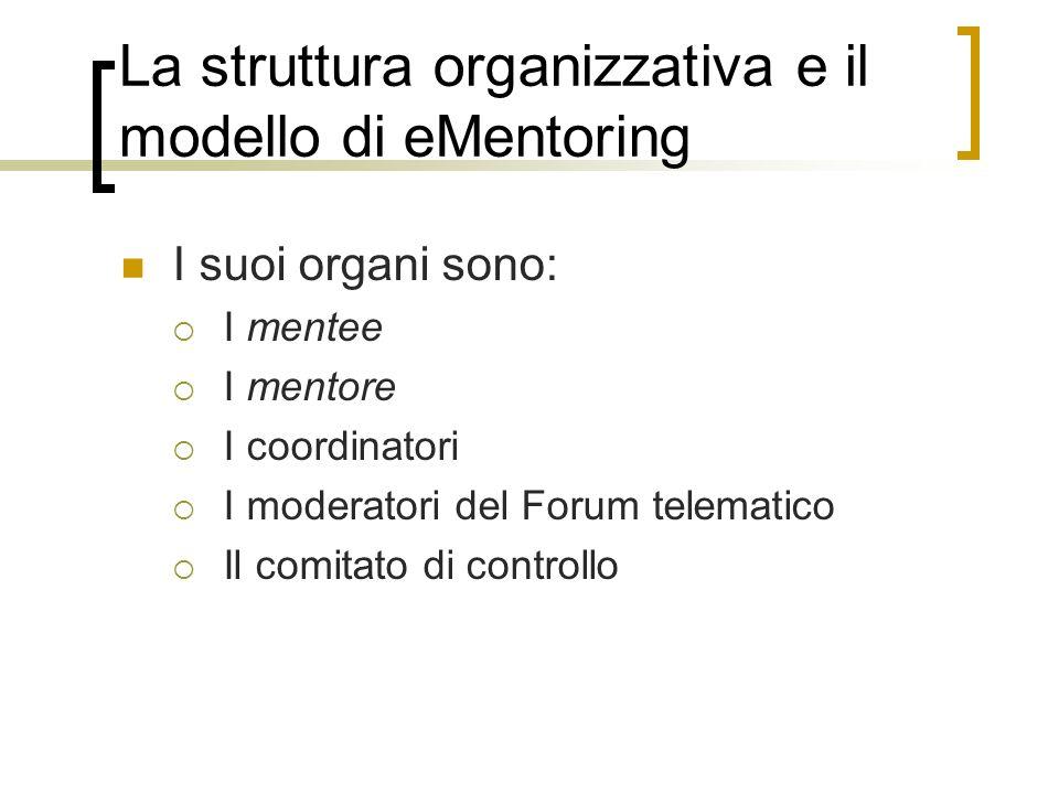 La struttura organizzativa e il modello di eMentoring