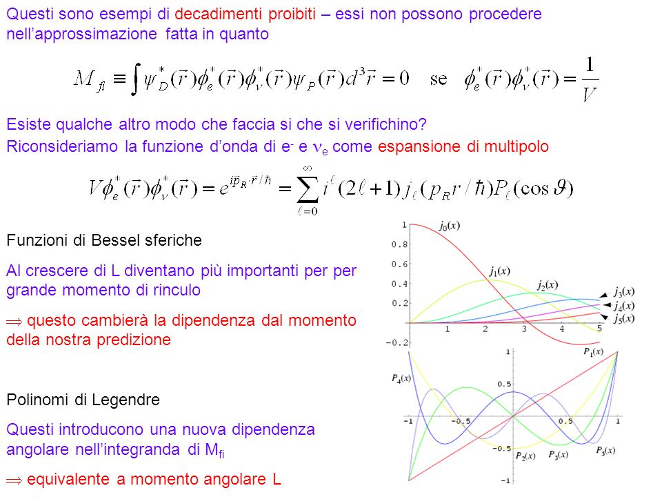 Funzioni di Bessel sferiche