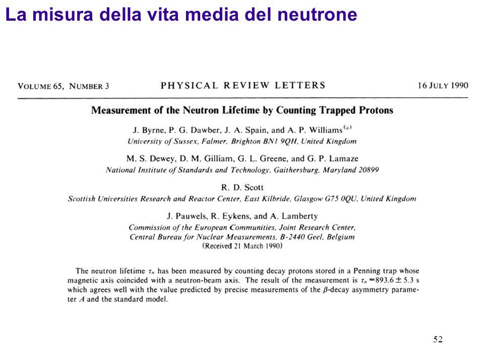 La misura della vita media del neutrone