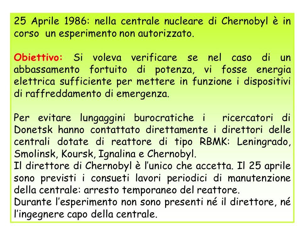25 Aprile 1986: nella centrale nucleare di Chernobyl è in corso un esperimento non autorizzato.