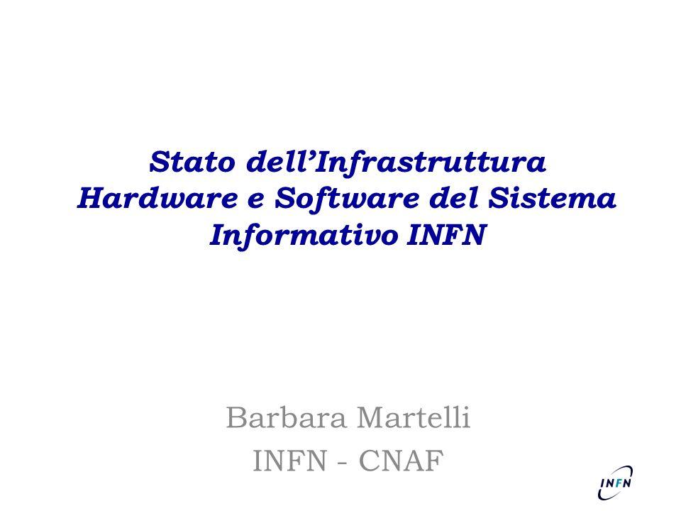 Stato dell'Infrastruttura Hardware e Software del Sistema Informativo INFN