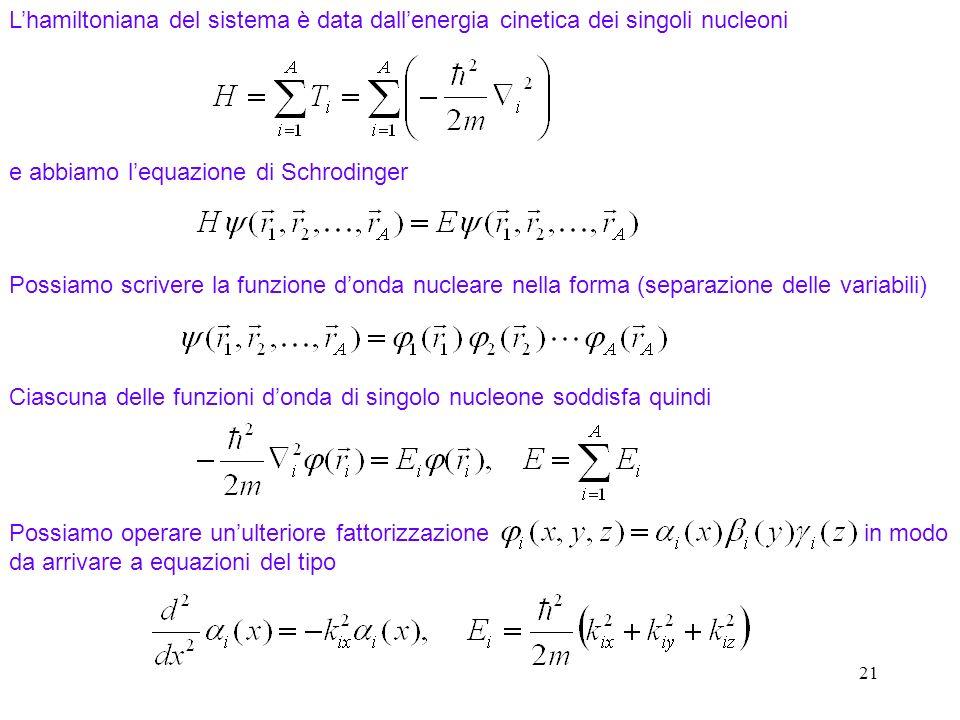 e abbiamo l'equazione di Schrodinger