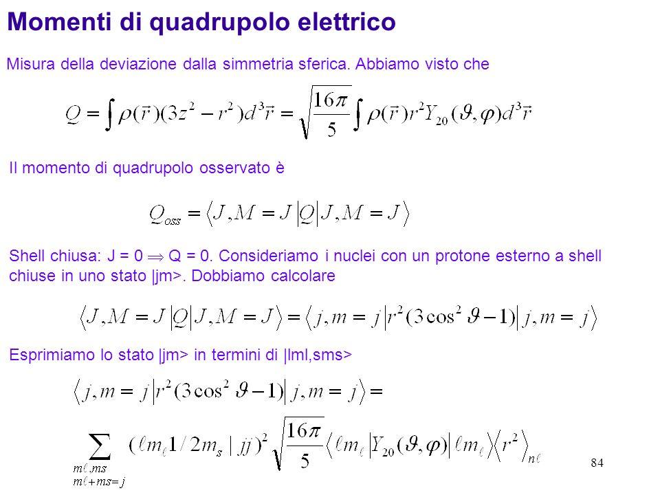 Momenti di quadrupolo elettrico