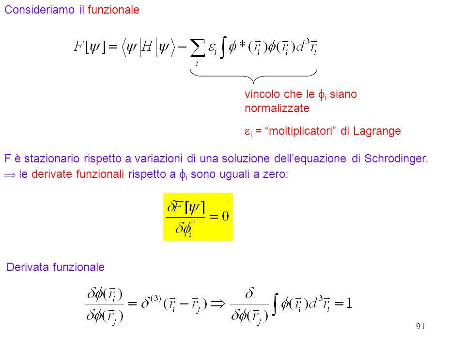 ei = moltiplicatori di Lagrange