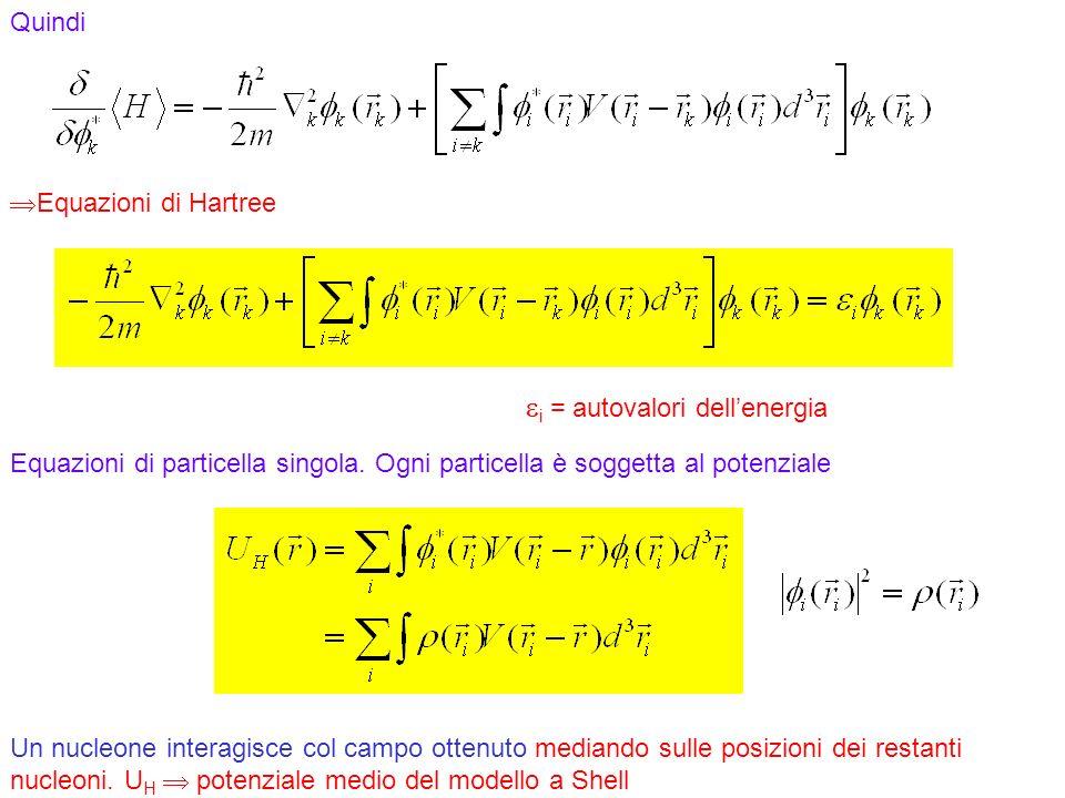 ei = autovalori dell'energia